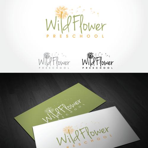 Preschool logo with the title 'logo for Wildflower Preschool'