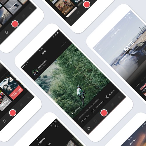 Feed design with the title 'Worm App Redesign'