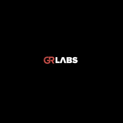 Simple font logo with the title 'logo for GR labs'