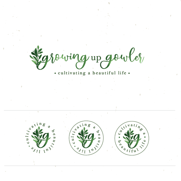 Home design logo with the title 'growing up gowler'