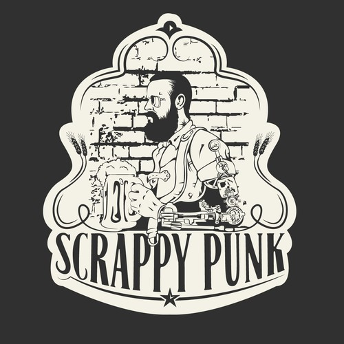 Cool brand with the title 'Scrappy Punk'