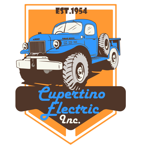 Truck t-shirt with the title 'Old Pickup Truck For A construction Company'