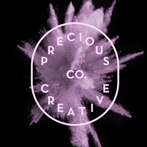 Typographic logo with the title 'Precious Creative Co.'
