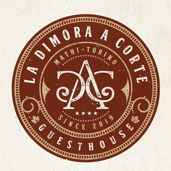 Guest house logo with the title 'LA DIMORA A CORTE'