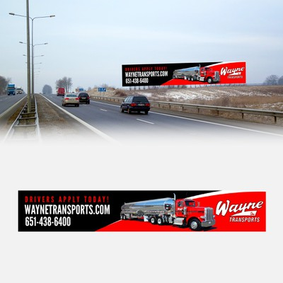 Trucking Company New Hire Banner