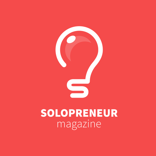Magazine logo with the title 'Solopreneur Magazine'