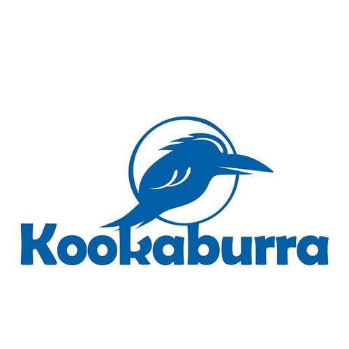 Logo illustration with the title 'Kookaburra logo'