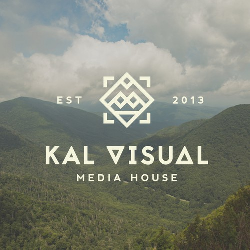 Digital Media logo with the title 'Create a crisp, minimalistic, and vintage style design for Kal Visuals Media and Production house'