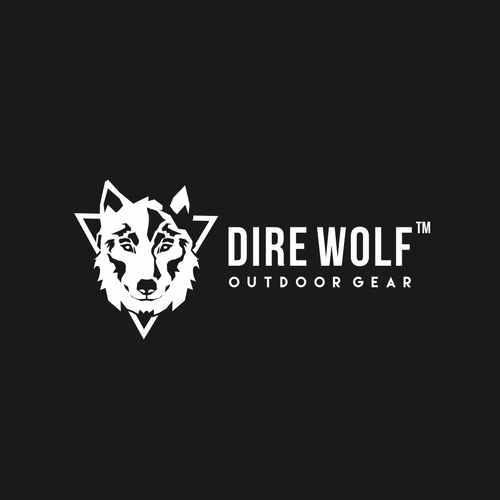 Confident logo with the title 'bold and confident logo concept for dire wolf'
