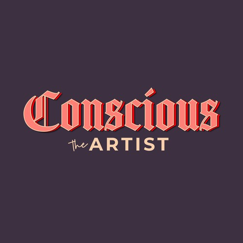 Rap design with the title ''Conscious the Artist' podcast logo'