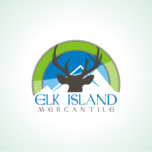 Elk logo with the title 'Win my logo contest and good karma is yours!'