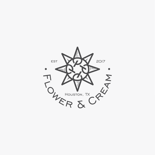 Houston logo with the title 'flower & cream'