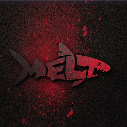 Shark design with the title 'Logo for MELT - Media And Music Agency'