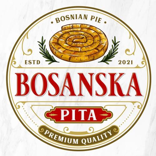 Pie logo with the title 'BOSANSKA PITA'