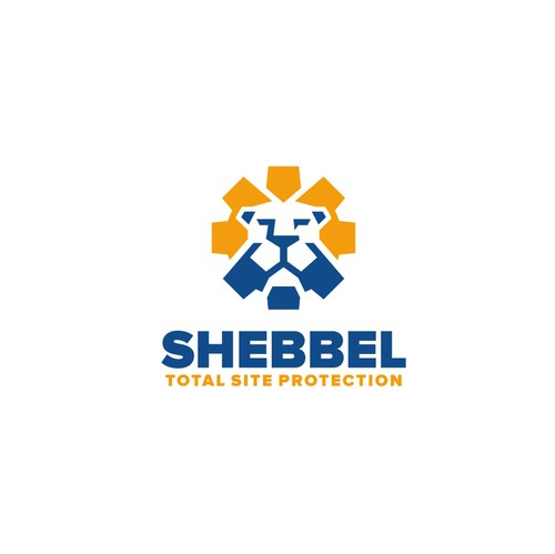 Head logo with the title 'Shebbel total protection logo design'