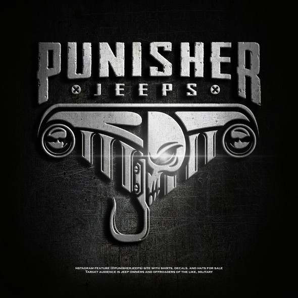 4x4 design with the title 'Punisher Jeeps'