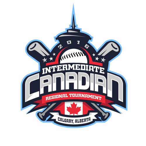 Tournament design with the title 'Intermediate Canadian Regional Tournament Logo'