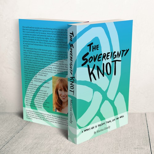 Handmade book cover with the title 'Book Cover Design for The Sovereignty Knot'
