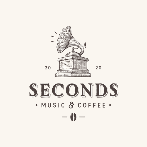 Coffee brand with the title 'Seconds Music & Coffee'