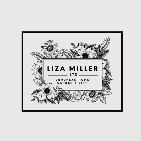Decorative brand with the title 'Branding identity for home decor business'