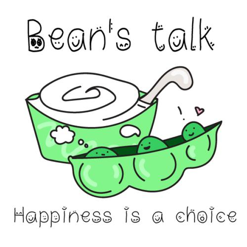 Soybean logo with the title 'Bean's talk (beancurd dessert shop)'