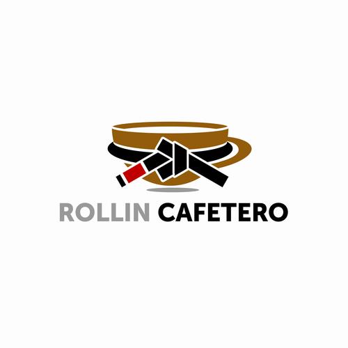Jiu-jitsu logo with the title 'Rollin Cafetero'