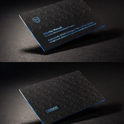 Business Card Design For HANAK-Datenschutz