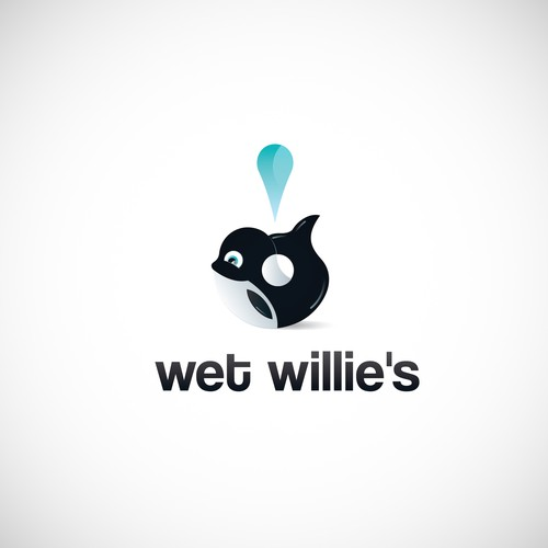 Orca logo with the title 'Wet Willie's Logo Design'