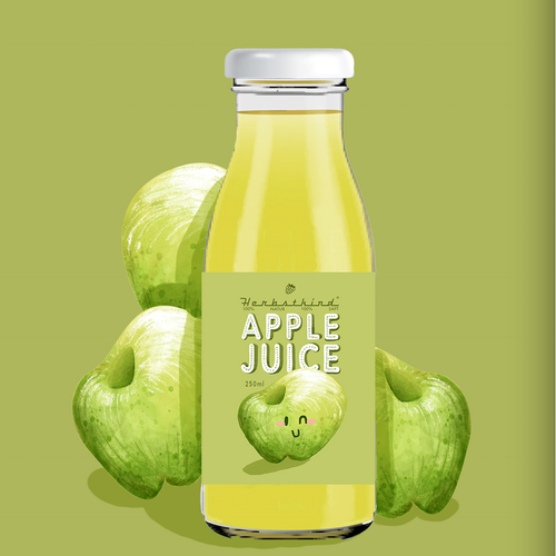 Apple label with the title 'juice label'