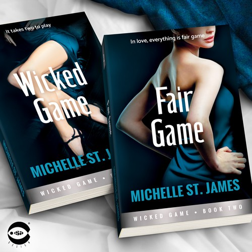 """Novel book cover with the title 'Book covers for """"Wicked Game Series"""" (Books 1 and 2) by Michelle St. James'"""