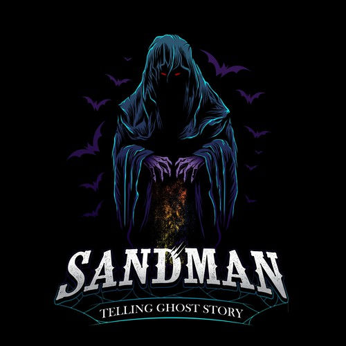 Ghost logo with the title 'SANDMAN'