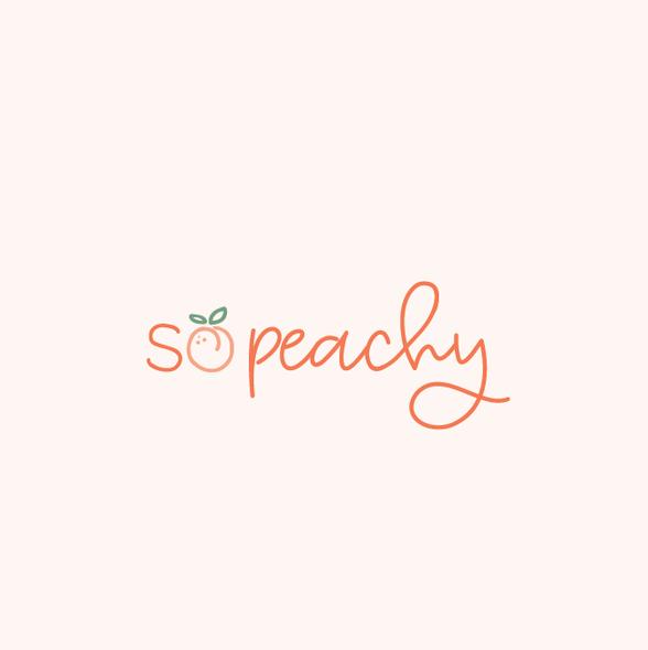 Peach logo with the title 'So peachy'
