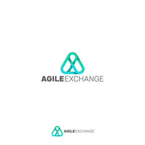 Oval logo with the title 'Logo design for Agile eXchange'