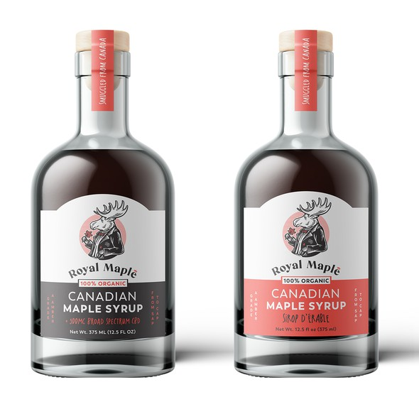 Syrup design with the title 'Logo and packaging for maple products company'