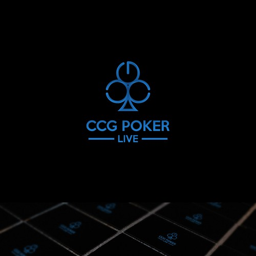 Poker logo with the title 'Second Logo of CCG Poker LIVE'