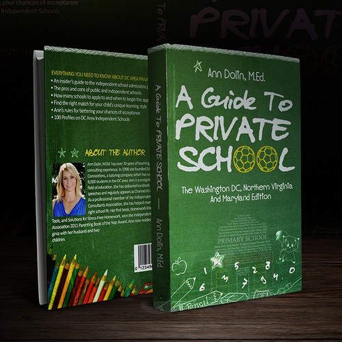 School book cover with the title 'Educational Book Cover'