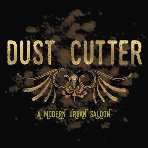 Saloon logo with the title 'Dust Cutter Saloon'