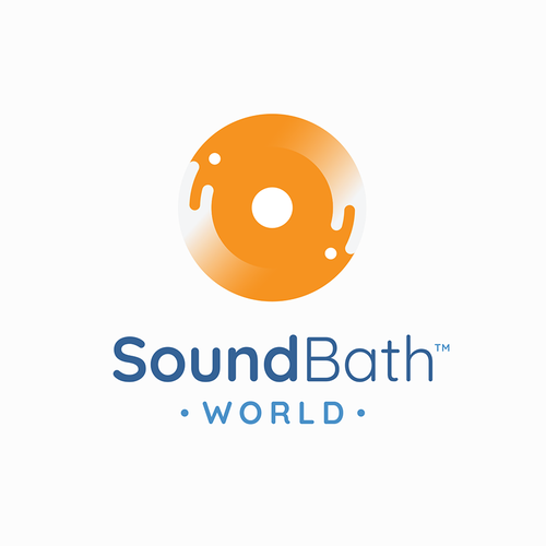 Fluid design with the title 'Simple fluid logo design for sound bath practitioners'