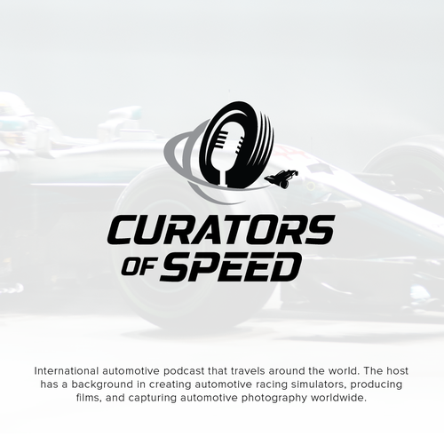 Race car design with the title 'Logo for Automotive podcast'