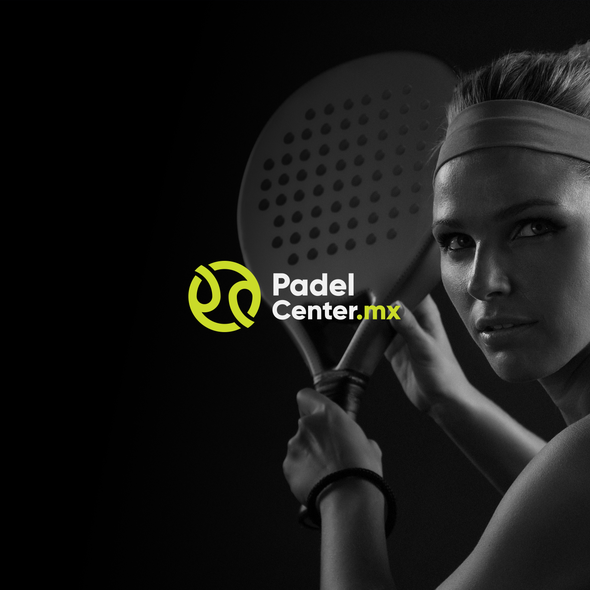 Tennis ball design with the title 'Padel Center'