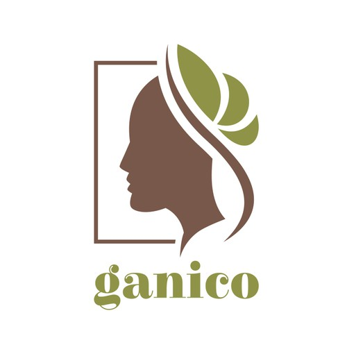 Face brand with the title 'Logo design for ganico'