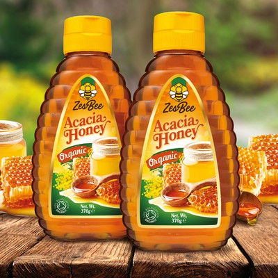 Design concept for Acacia honey label