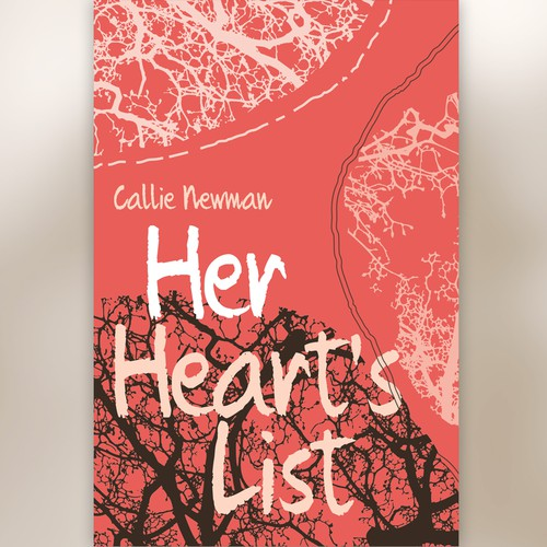 Female book cover with the title ''Her Hearts List' by Callie Newman'
