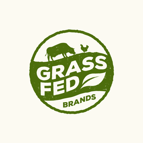 Grass design with the title 'logo design for food company'