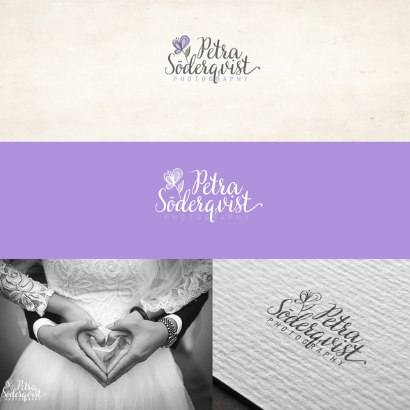 Modern font logo with the title 'portrait & wedding photographer logo '