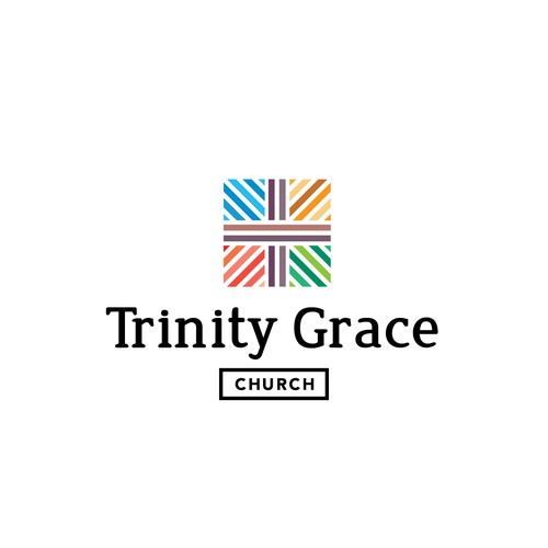 Graceful design with the title 'Trinity Grace Church logo concept'