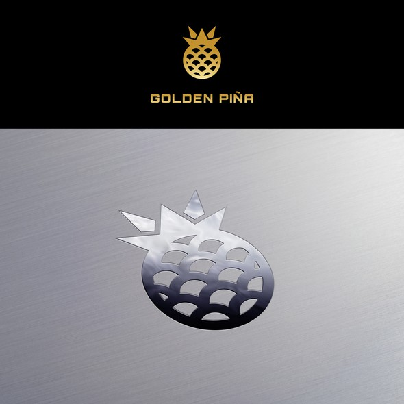 Pineapple brand with the title 'Logo Design for Golden Piña'