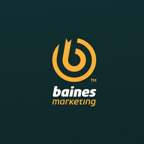 Bullseye logo with the title 'Baines Marketing'