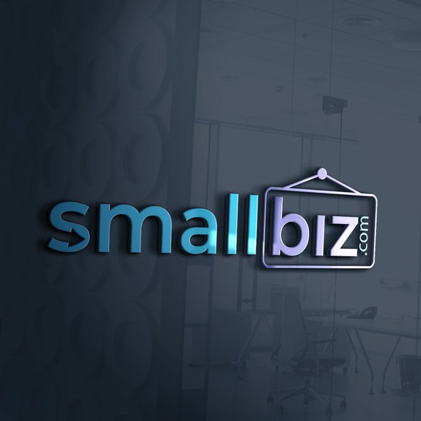 Online store brand with the title 'Logo & Brand Identity for SmallBiz'