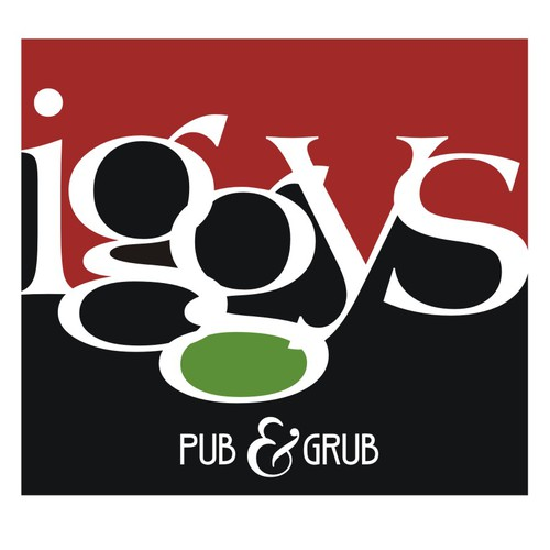 Bar logo with the title 'Iggy's Pub And Grub needs a new logo'